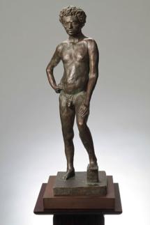 Davidoff (front) Plaster with bronze patina - 10W x 27H x 10D