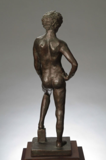 Davidoff (rear) Plaster with bronze patina - 10W x 27H x 10D