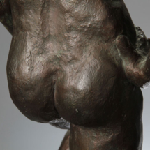 Davidoff (rear detail) Plaster with bronze patina - 10W x 27H x 10D